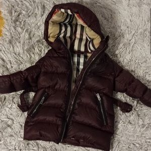 Burberry toddler winter down jacket